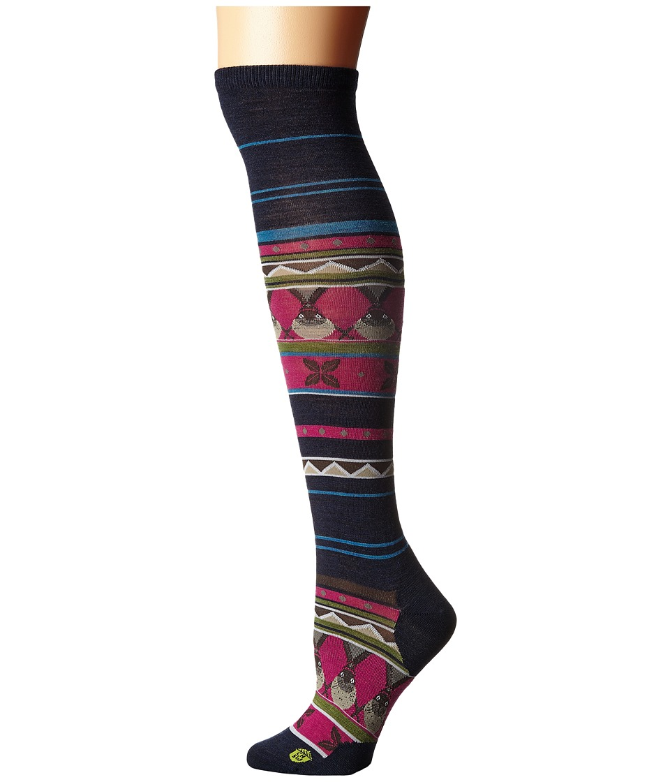 Smartwool - Charley Harper Glacial Bay Seal Knee Highs (Deep Navy Heather) Women's Knee High Socks Shoes