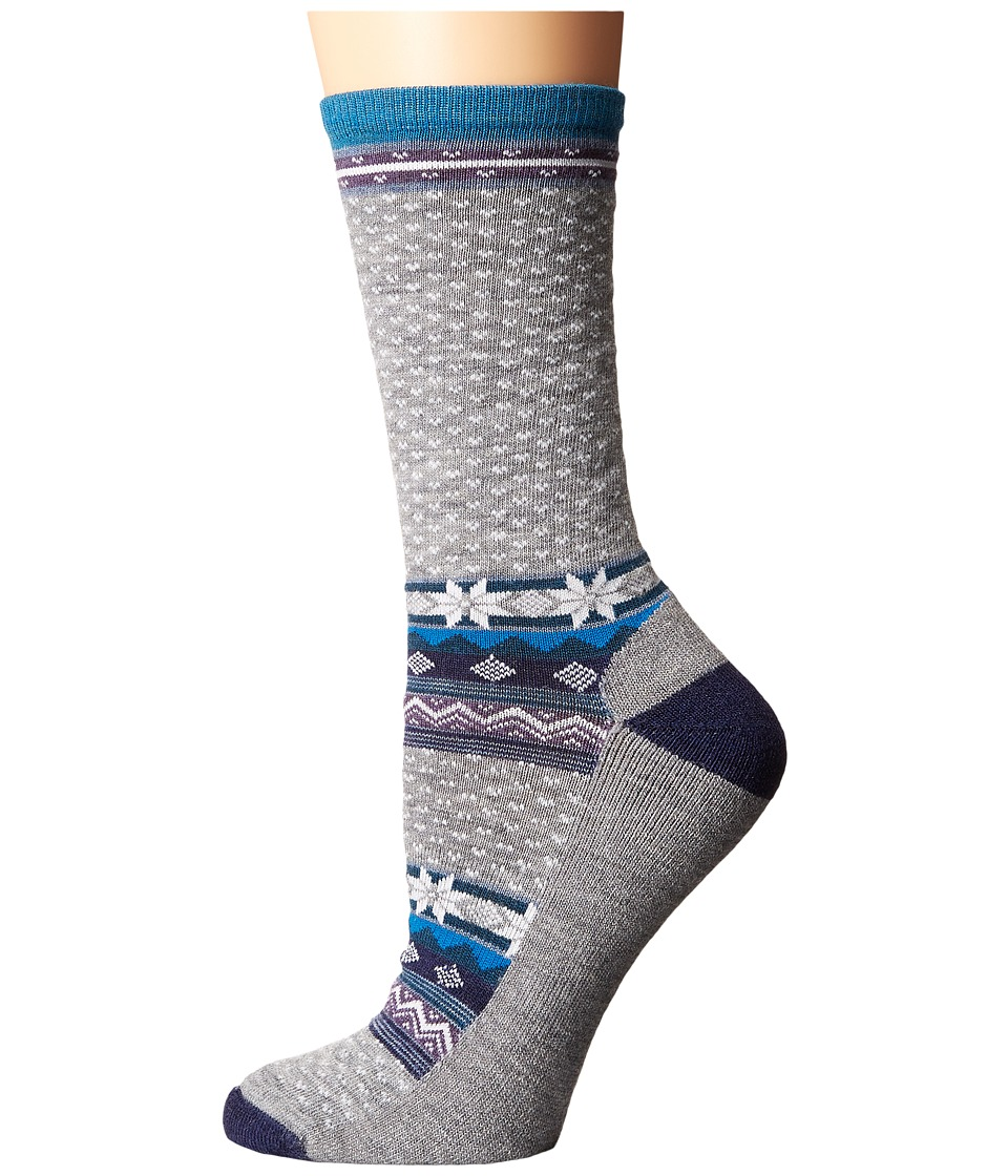Smartwool - Cozy Cabin Crew (Light Gray Heather) Women's Crew Cut Socks Shoes
