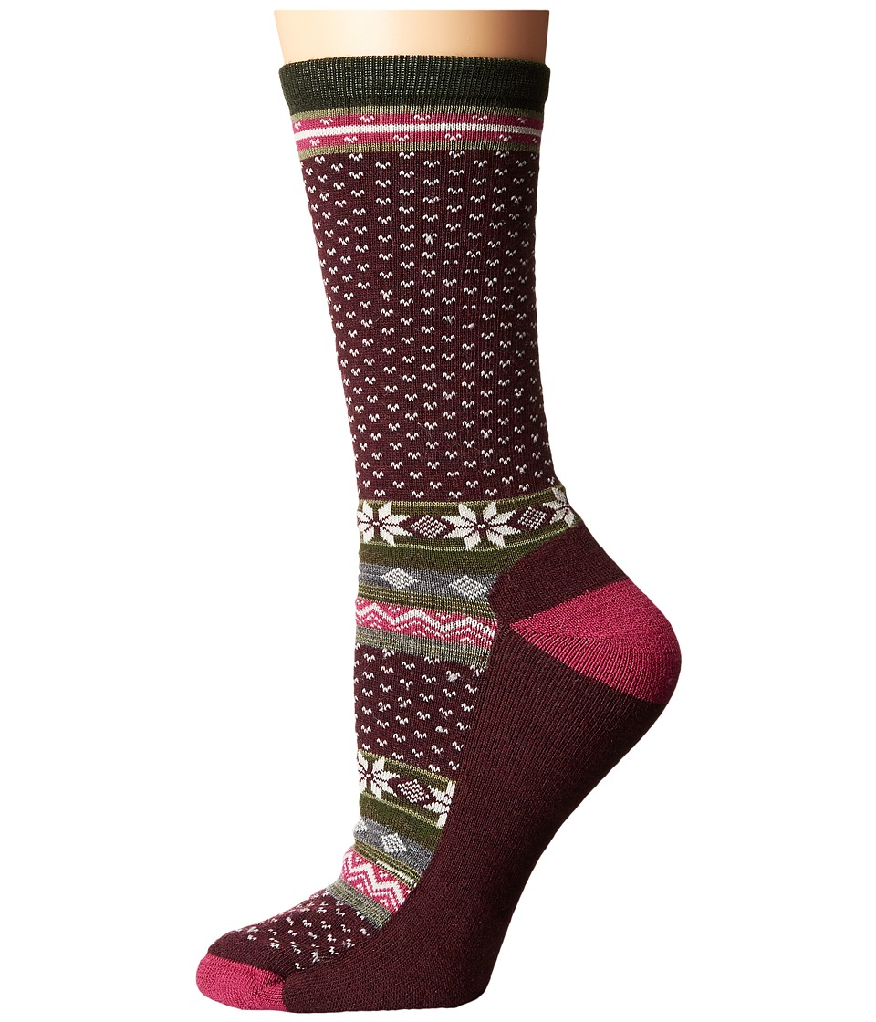 Smartwool - Cozy Cabin Crew (Aubergine Heather) Women's Crew Cut Socks Shoes