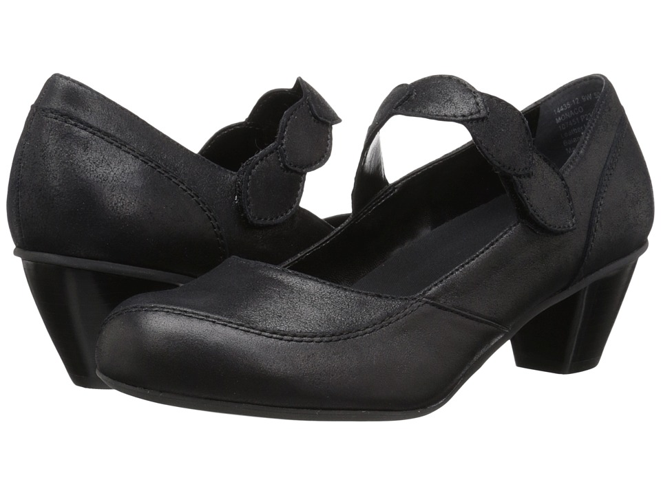 Drew - Monaco (Dusty Black Leather) Women's Maryjane Shoes