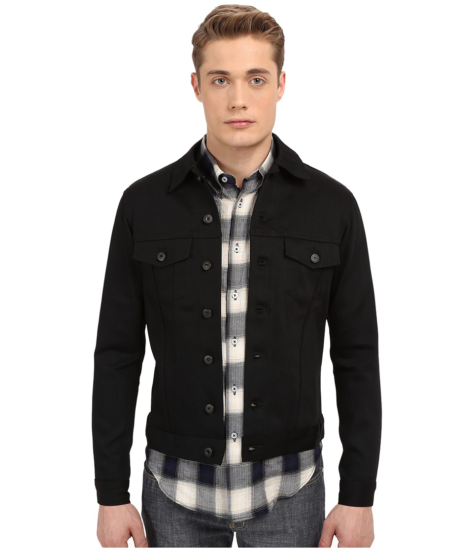 Naked & Famous - Power-Stretch Denim Jacket (Black) Men's Coat