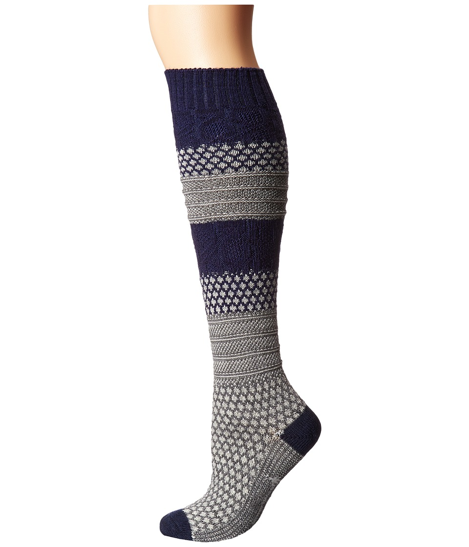 Smartwool - Popcorn Cable Knee Highs (Light Gray Heather) Women's Knee High Socks Shoes
