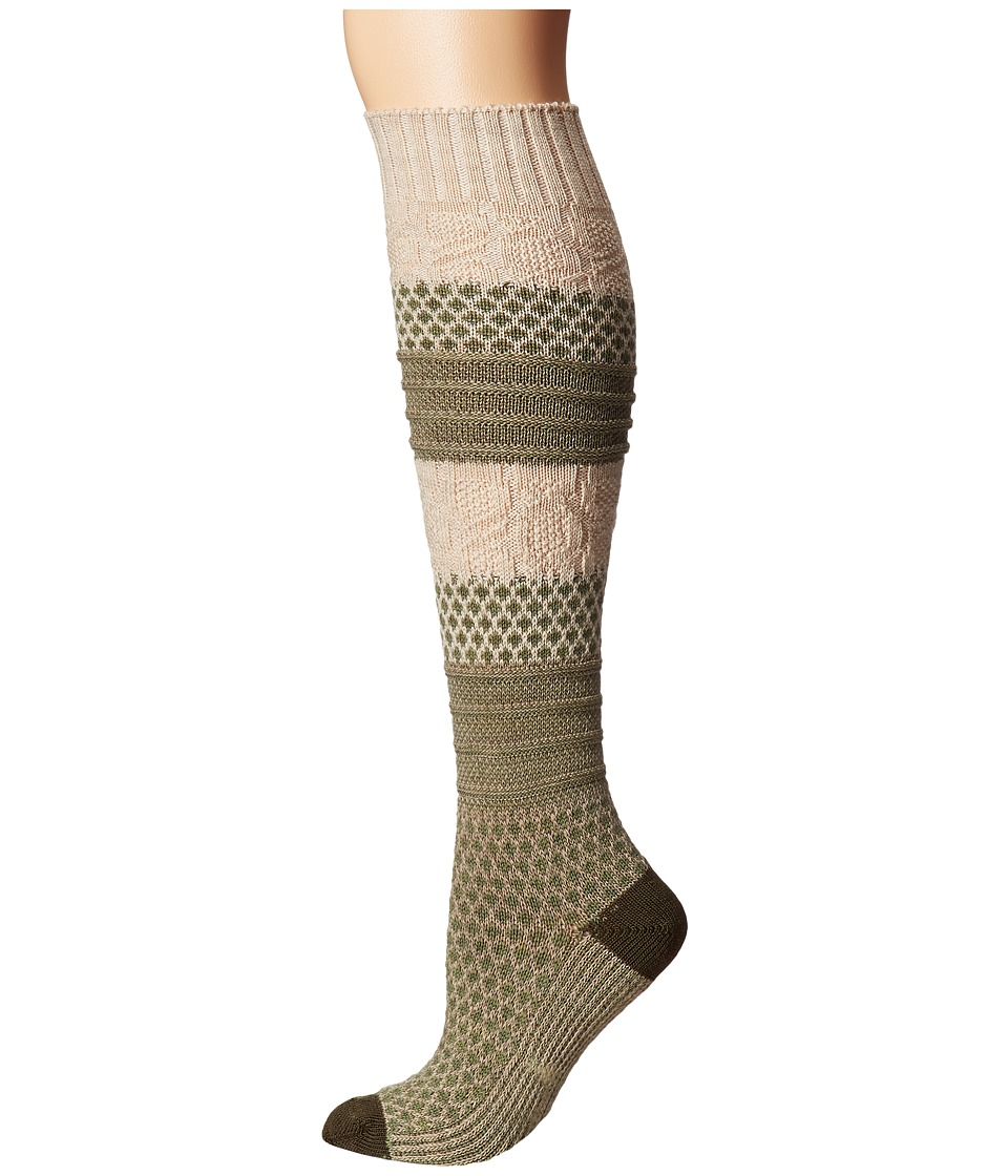 Smartwool - Popcorn Cable Knee Highs (Light Loden Heather) Women's Knee High Socks Shoes