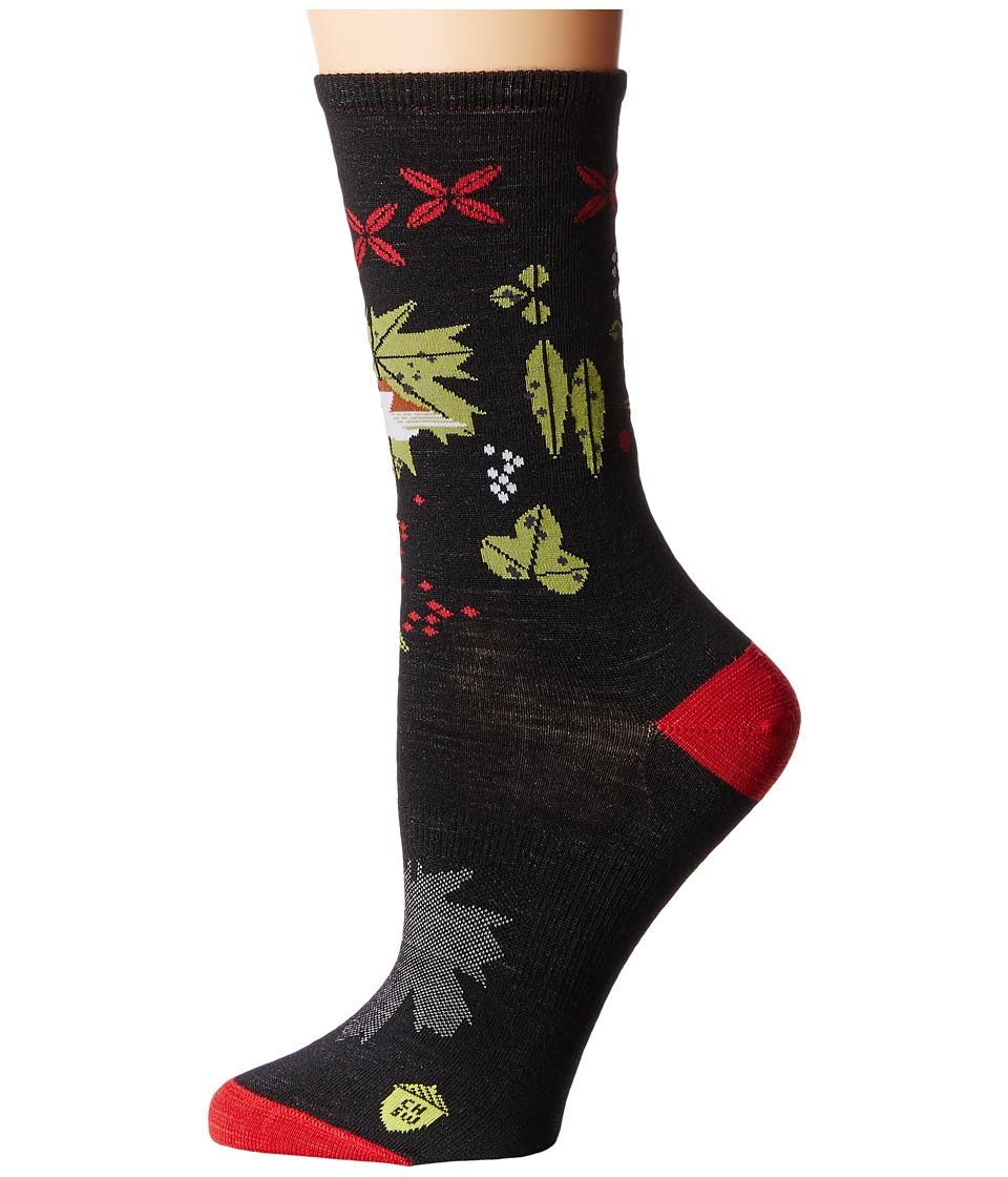Smartwool - Charley Harper Glacial Bay Finch Crew (Black) Women's Crew Cut Socks Shoes