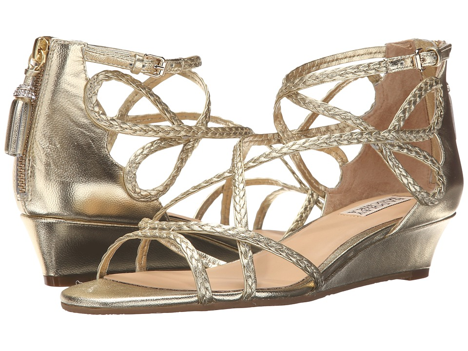 Badgley Mischka Corrine (Platino Metallic Leather) Women