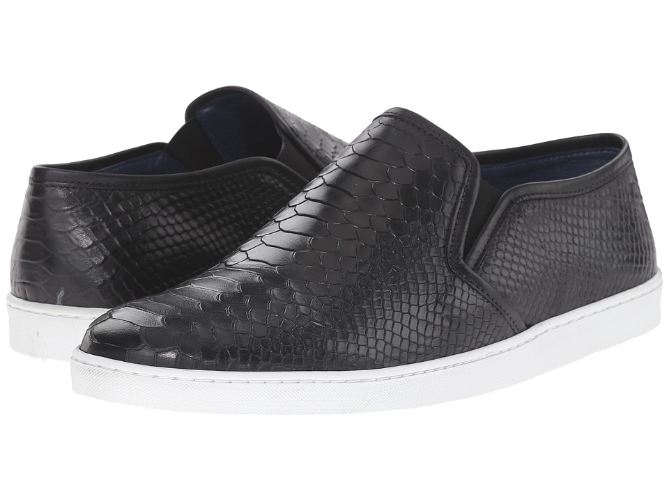 Dune London - Tomkins (Black Leather) Men's Slip on Shoes