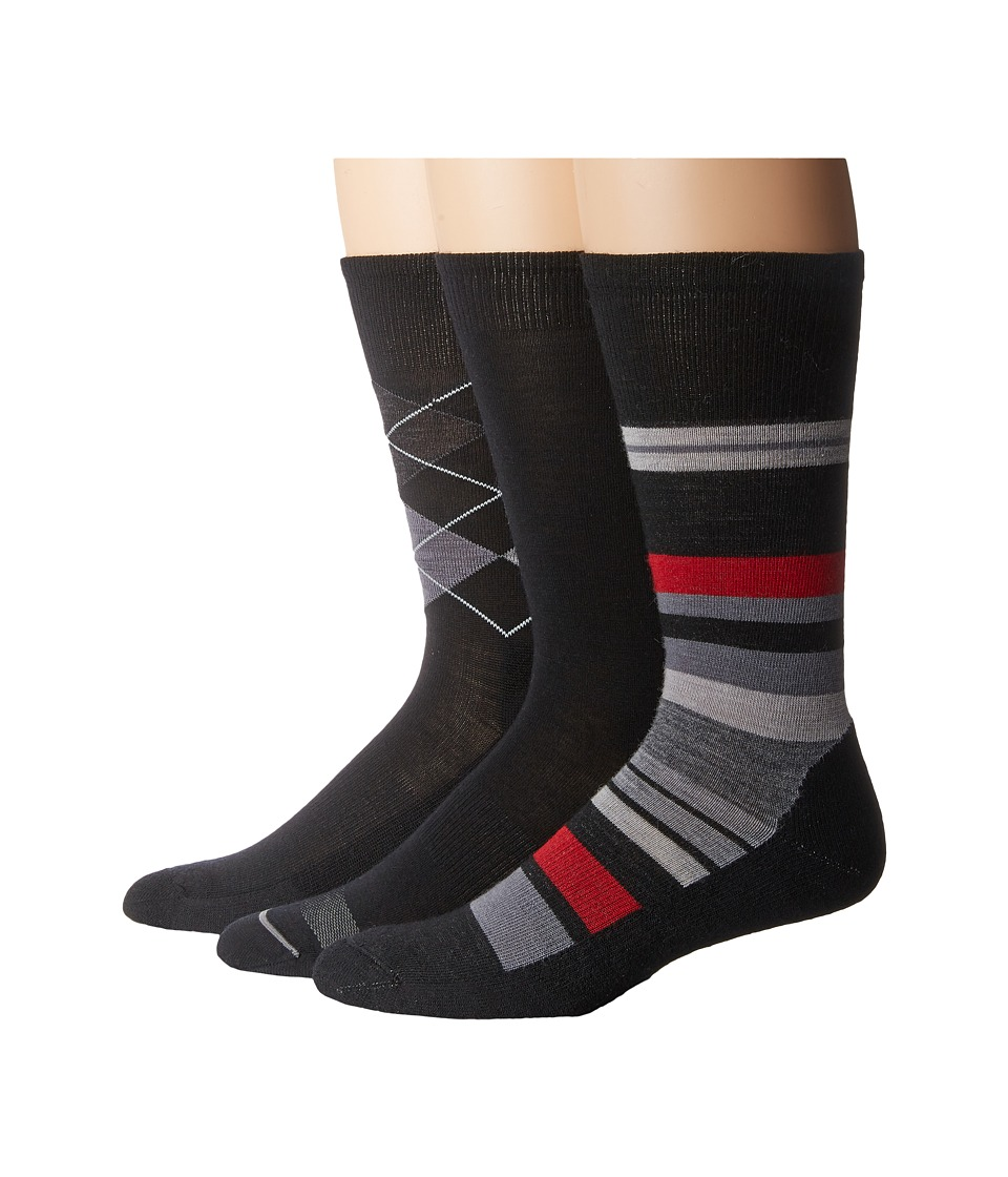 Smartwool - Trio 2 (Black) Men's Crew Cut Socks Shoes