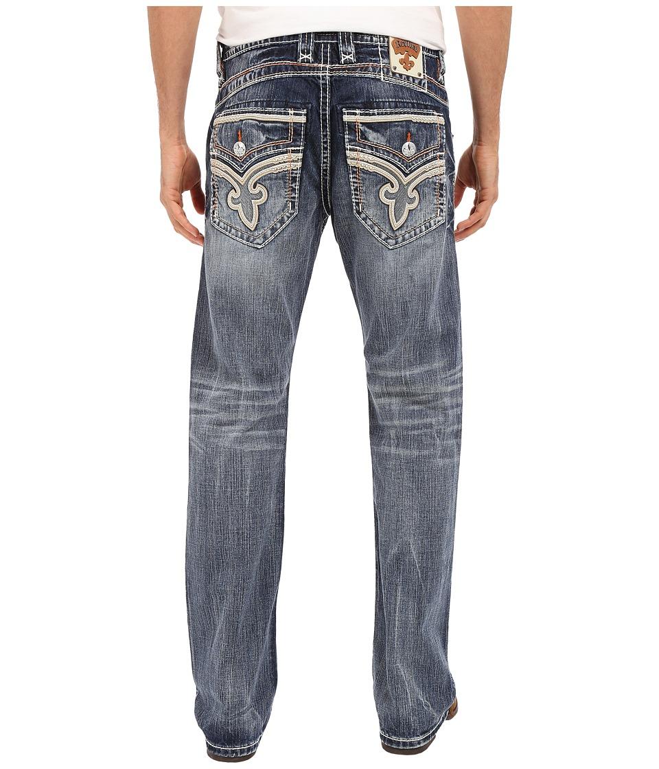 Rock Revival - Lanne B203 Boot Leg (Dark Blue) Men's Jeans