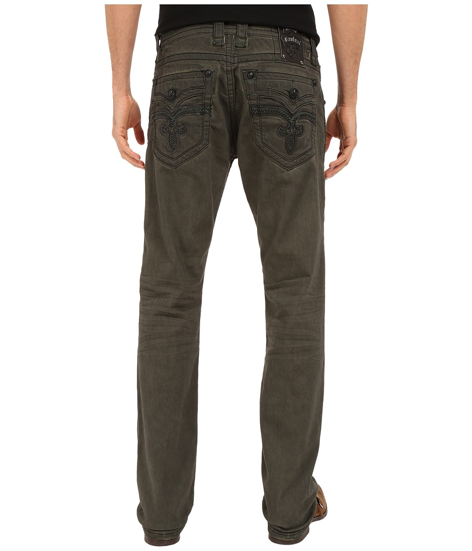 Rock Revival - Jack J17 Straight Leg (Olive Green) Men's Jeans