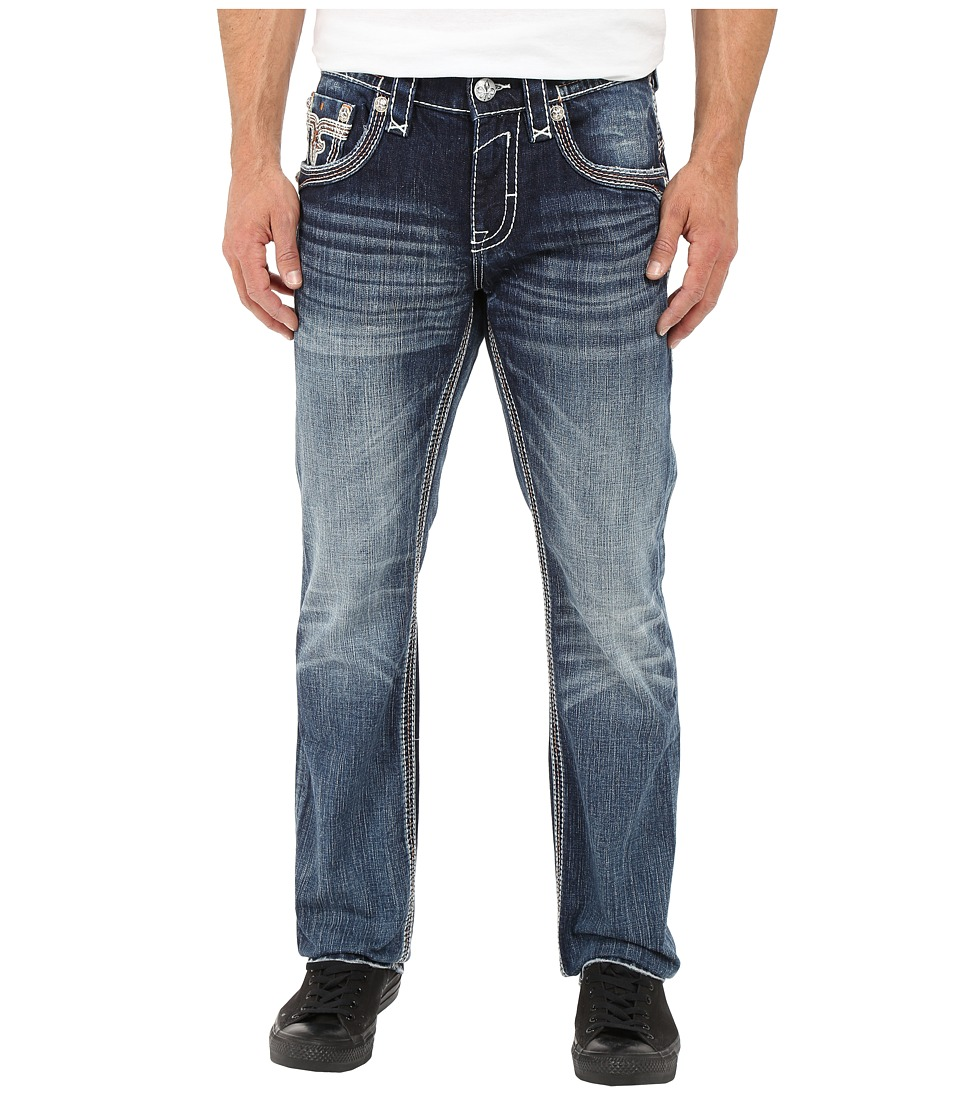 Rock Revival - Feeney J204 Straight Leg (Dark Blue) Men's Jeans