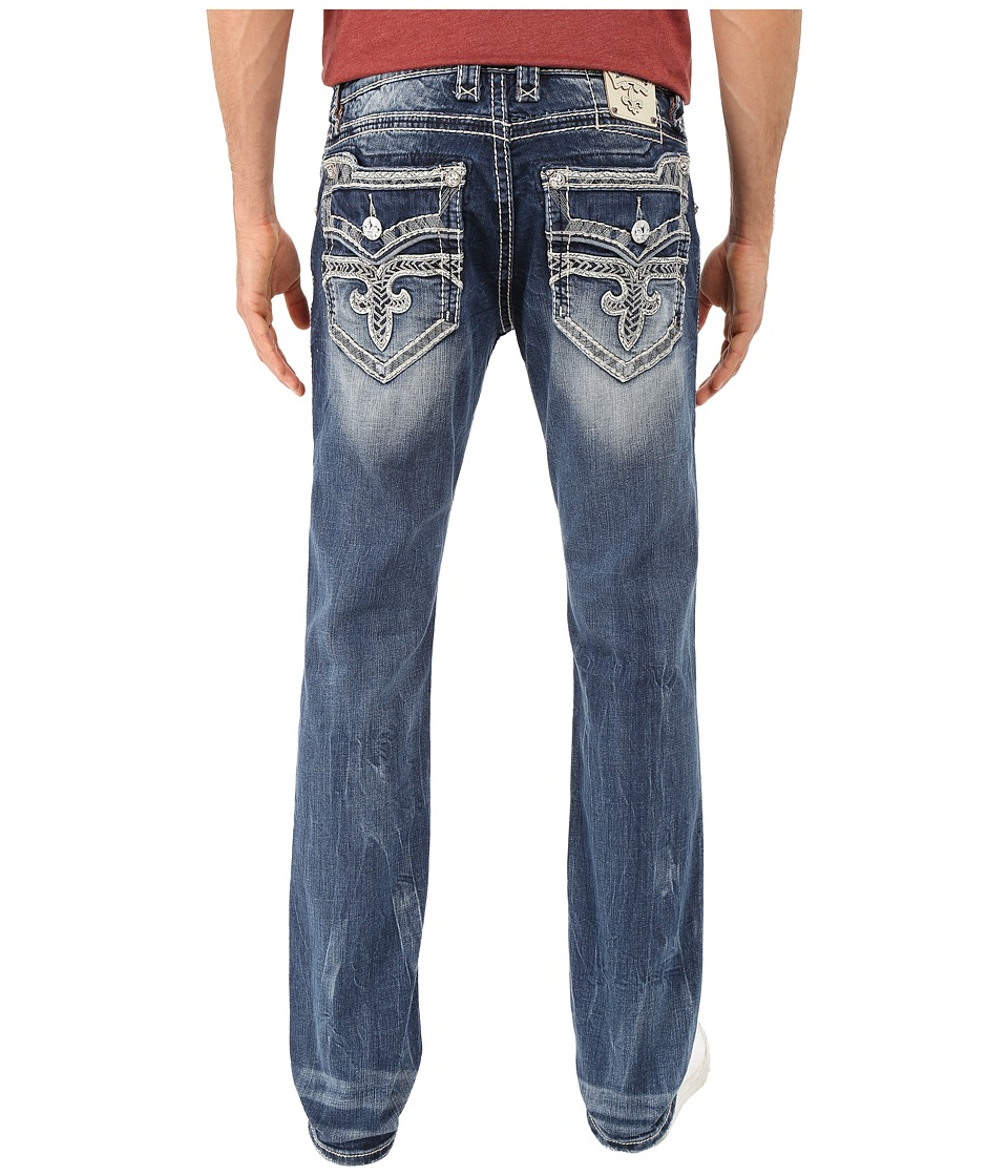 Rock Revival - Romeo A Alt Straight (Medium Blue) Men's Jeans