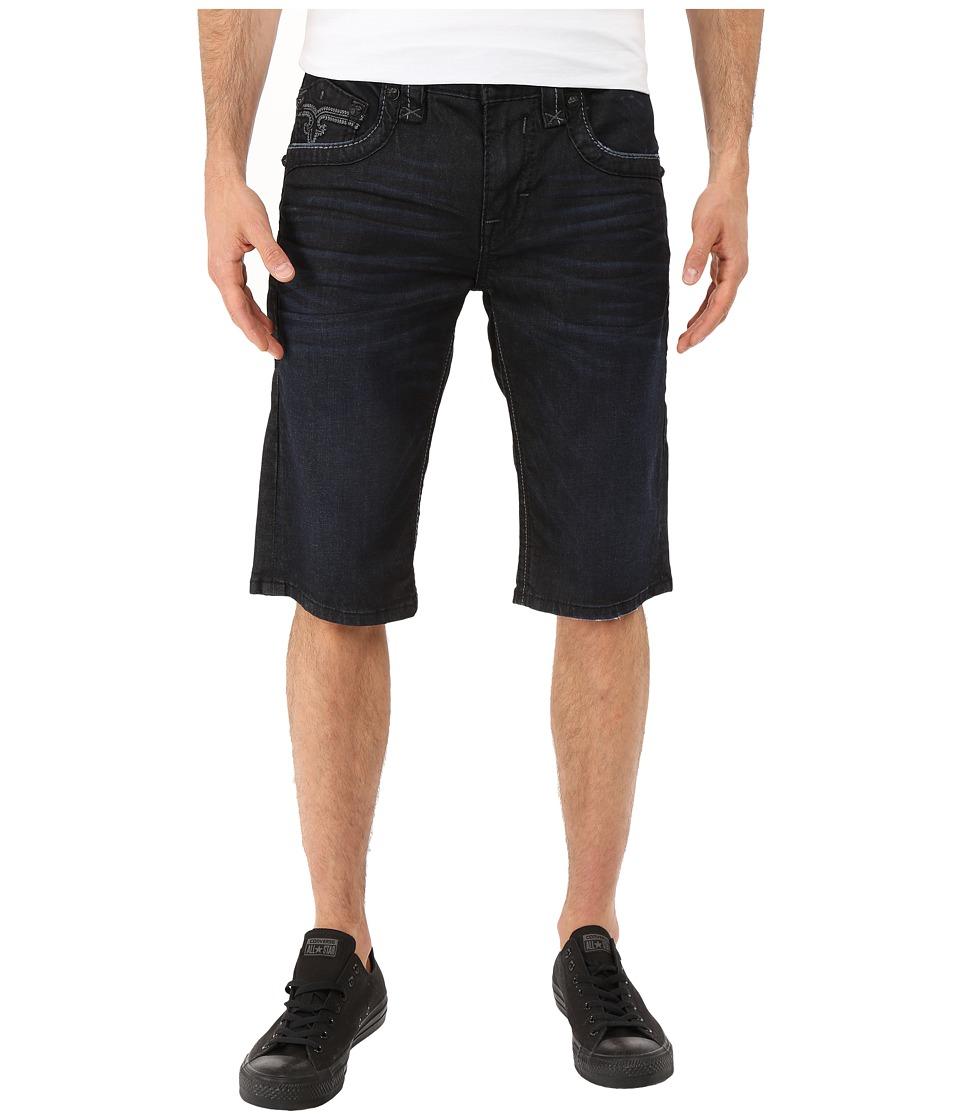 Rock Revival - Leotis H8 Shorts (Dark Blue) Men's Shorts