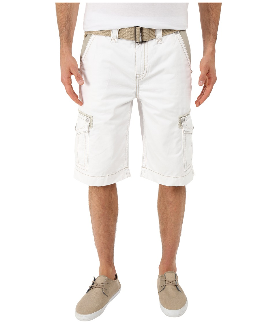 Rock Revival - Cargo Shorts (White) Men's Shorts