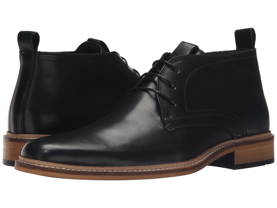 Dune London - Montenegro (Black Leather) Men's Dress Lace-up Boots