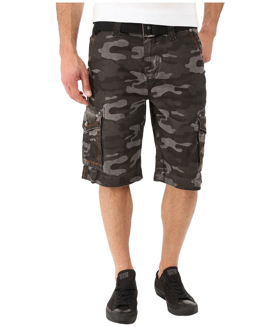 Rock Revival - Cargo Shorts (Camo Grey) Men's Shorts