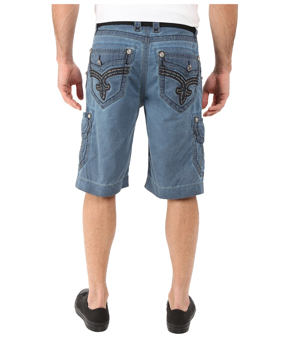 Rock Revival - Cargo Shorts (Blue) Men's Shorts