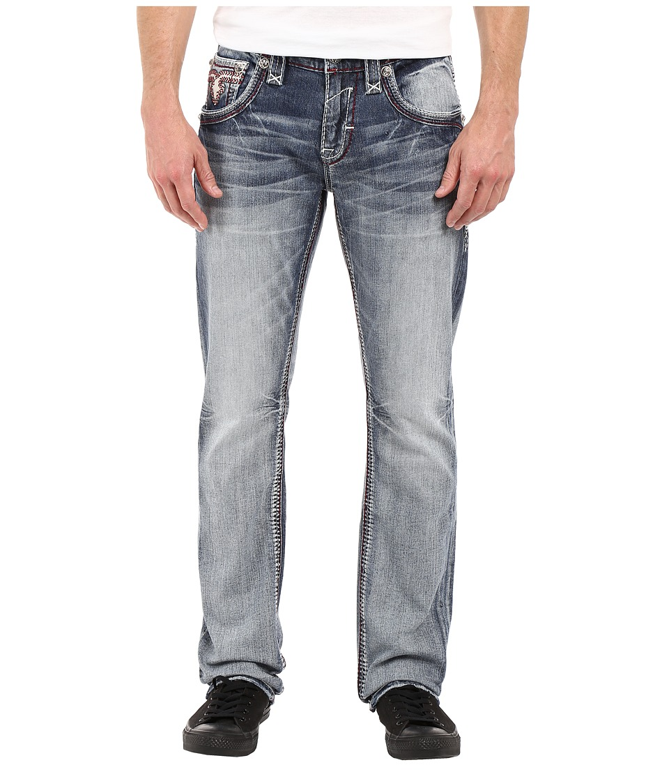 Rock Revival - Raynon J204 Straight Leg (Medium Blue) Men's Jeans