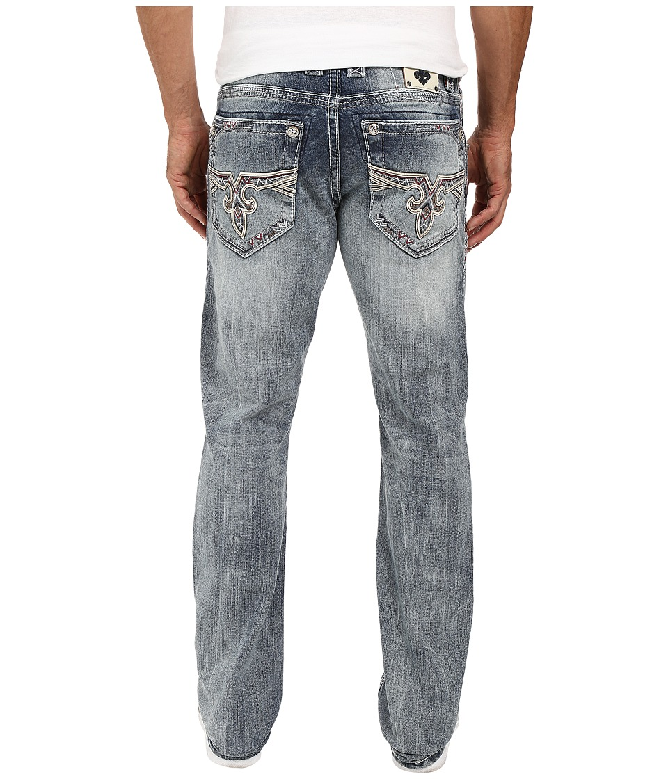 Rock Revival - Flann J400 Straight Leg (Medium Blue) Men's Jeans
