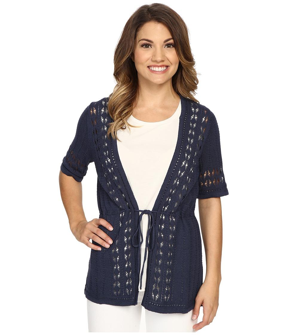 Pendleton - Petite Lindsay Cardi (Indigo) Women's Sweater