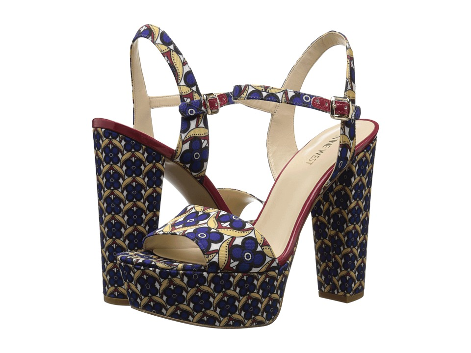 Nine West Carnation (Blue Multi Fabric) High Heels