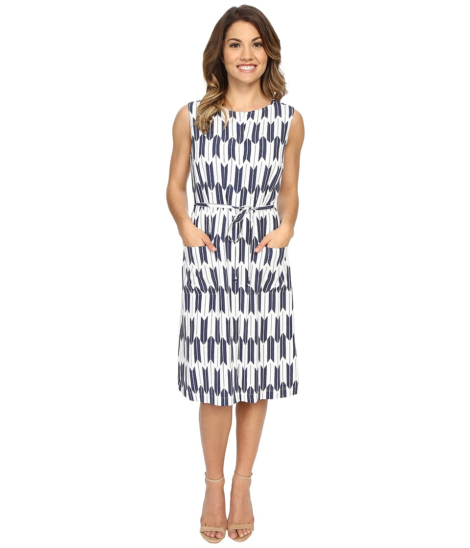 Pendleton Petite Flora Dress (Indigo Arrow Stripe Print) Women