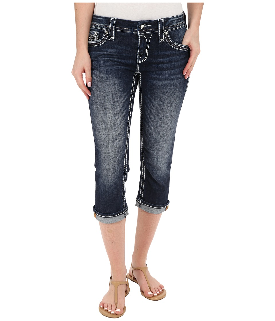 Rock Revival - Clover P13 Capris (Dark Blue) Women's Jeans