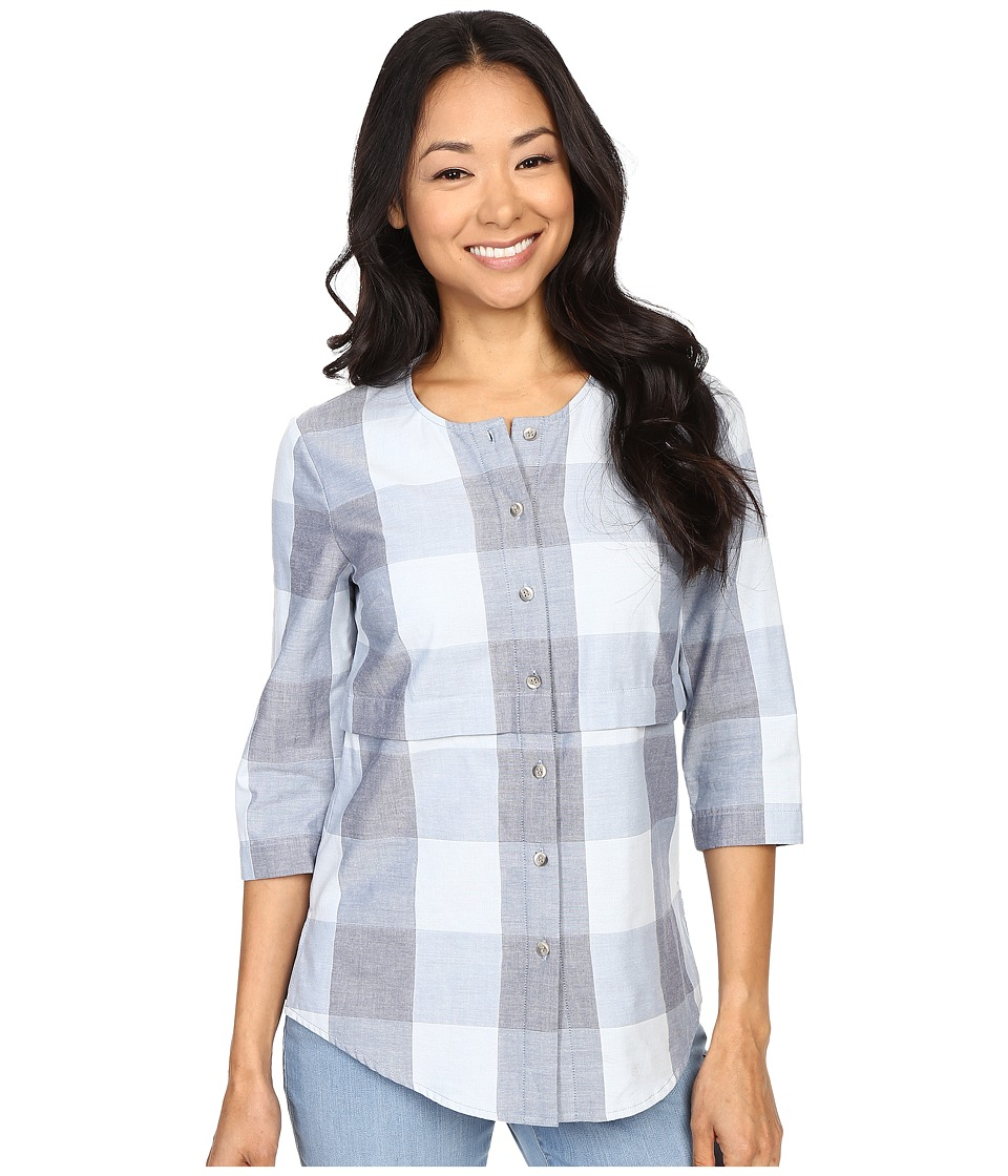 Pendleton - Petite Malena Shirt (Blue Large Check) Women's Long Sleeve Button Up