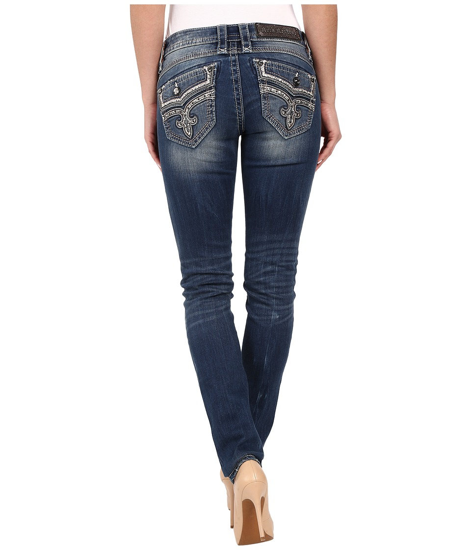 Rock Revival - Ellor S407 Skinny (Medium Blue) Women's Jeans