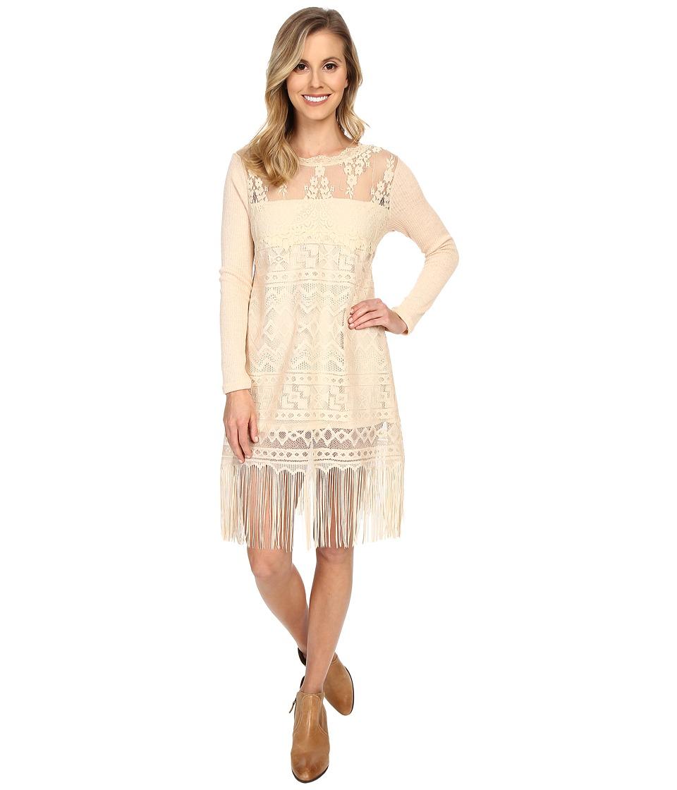 Scully - Show Stopper Fringe Dress (Natural) Women's Dress