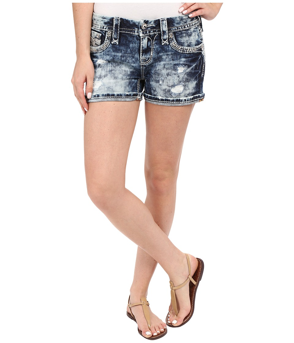 Rock Revival - Ena H201 Shorts (Tie-Dye Light Blue) Women's Shorts