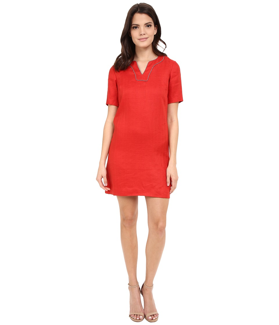 Pendleton - Petite Lora Dress (Cayenne Textured Linen Weave) Women's Dress