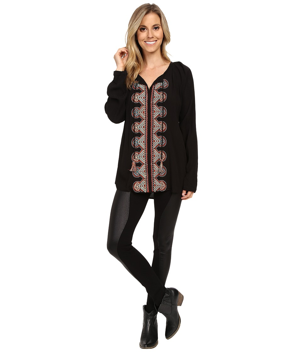 Scully - Zahav Embroidered Blouse (Black) Women's Blouse