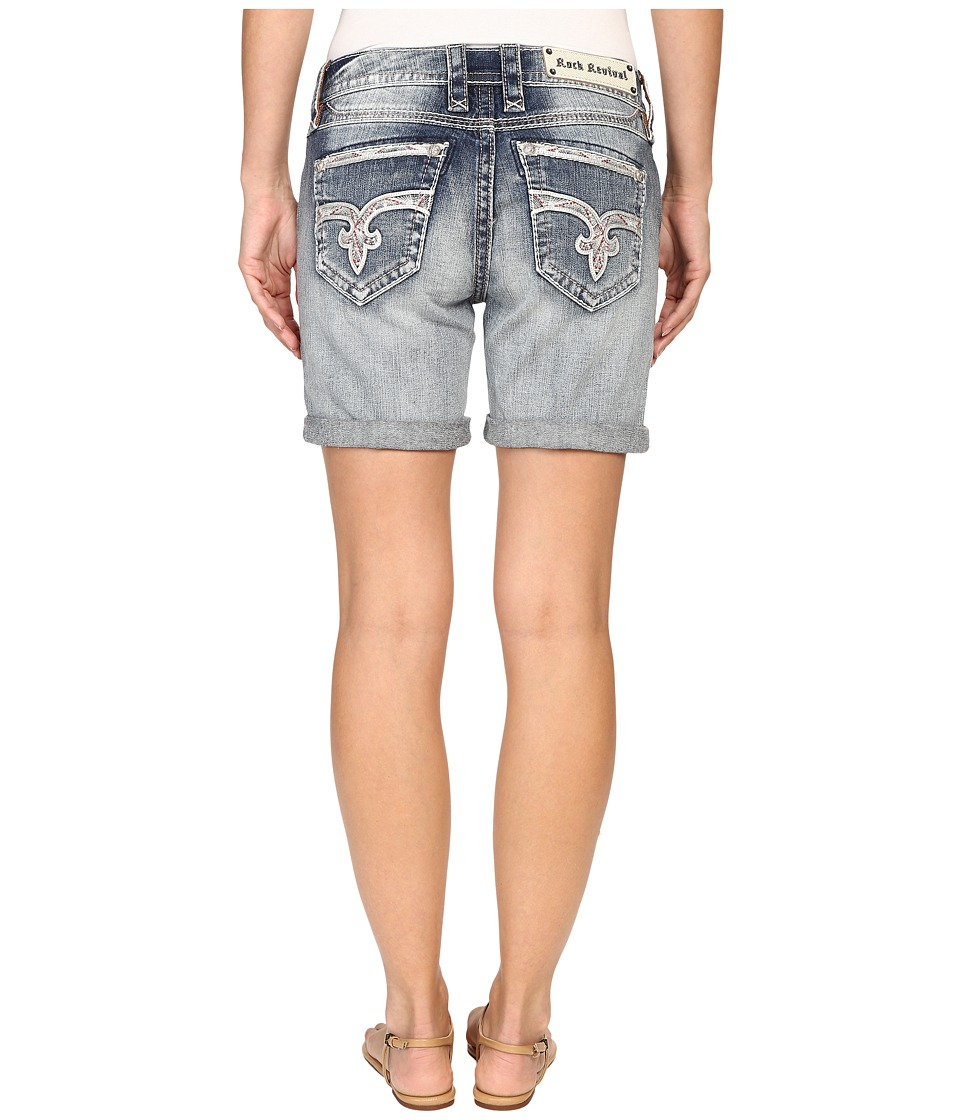 Rock Revival - Katell Rh400 Relaxed Shorts (Light Blue) Women's Shorts