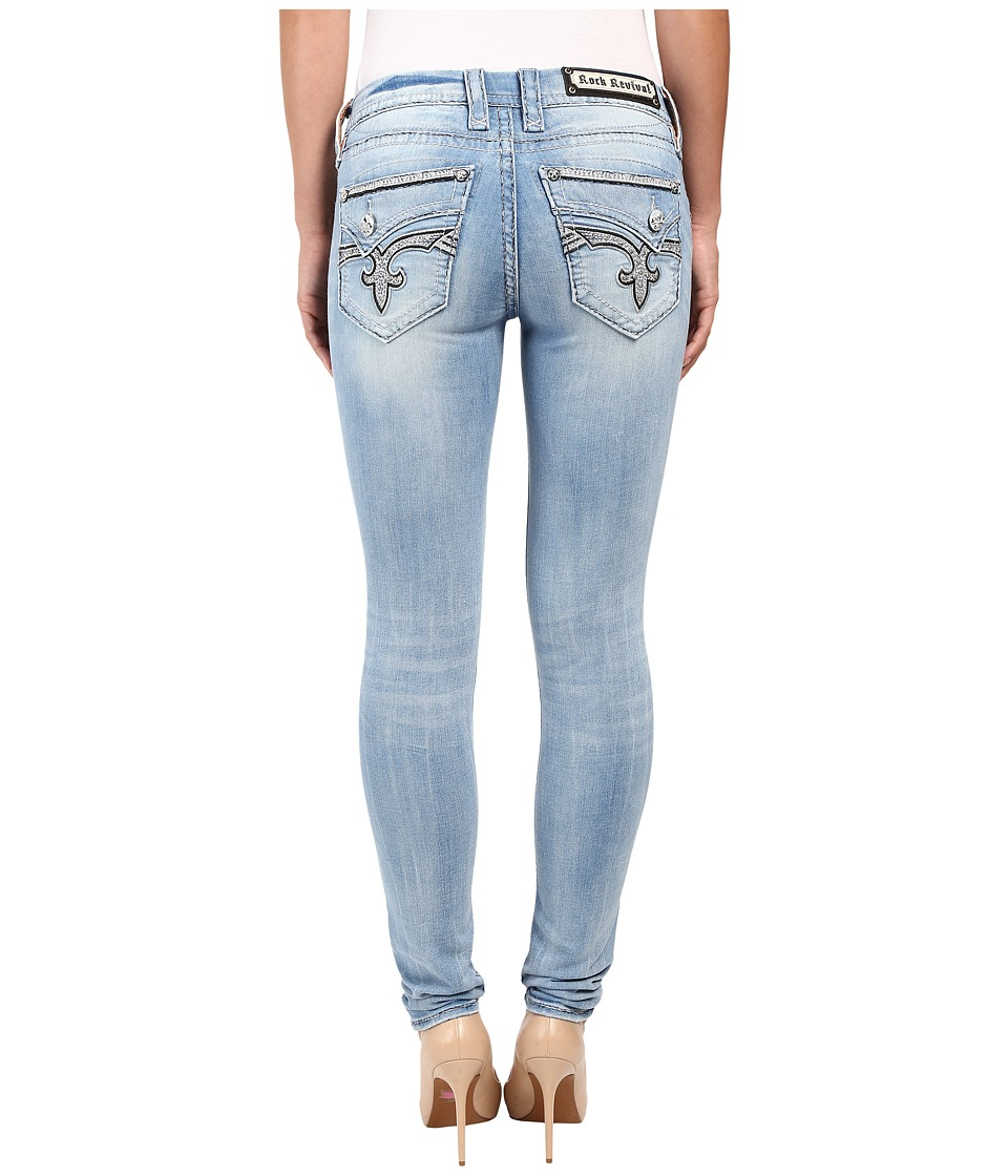 Rock Revival - Joni S200 Skinny (Light Blue) Women's Jeans