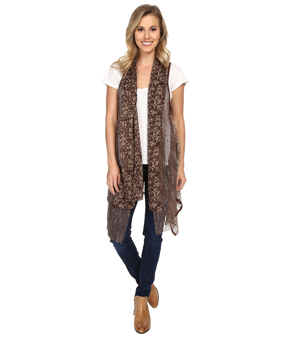 Scully - Alicia/Fun Vest with Attached Scarf (Brown) Women's Vest