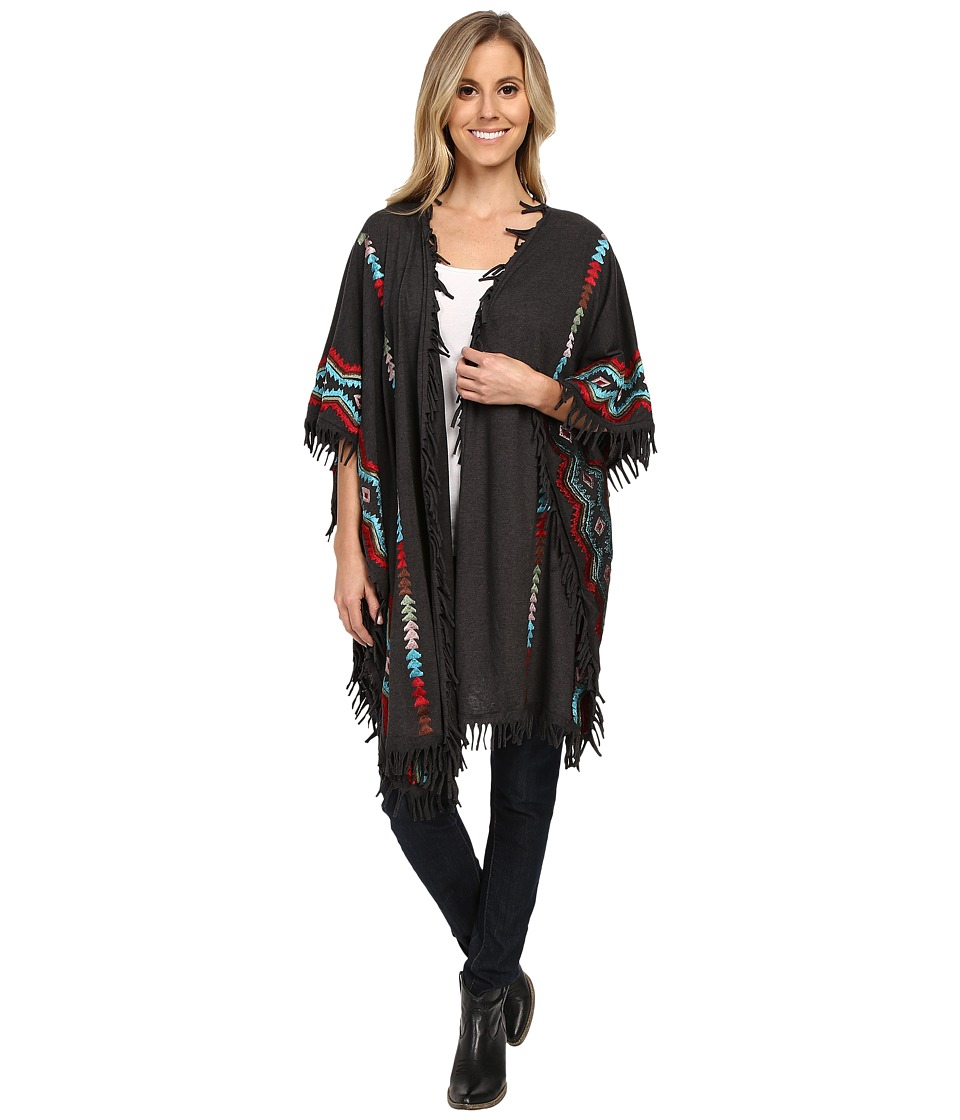 Scully - Ezri Cool Spring Evenings Embroidered Wrap (Gray) Women's Clothing
