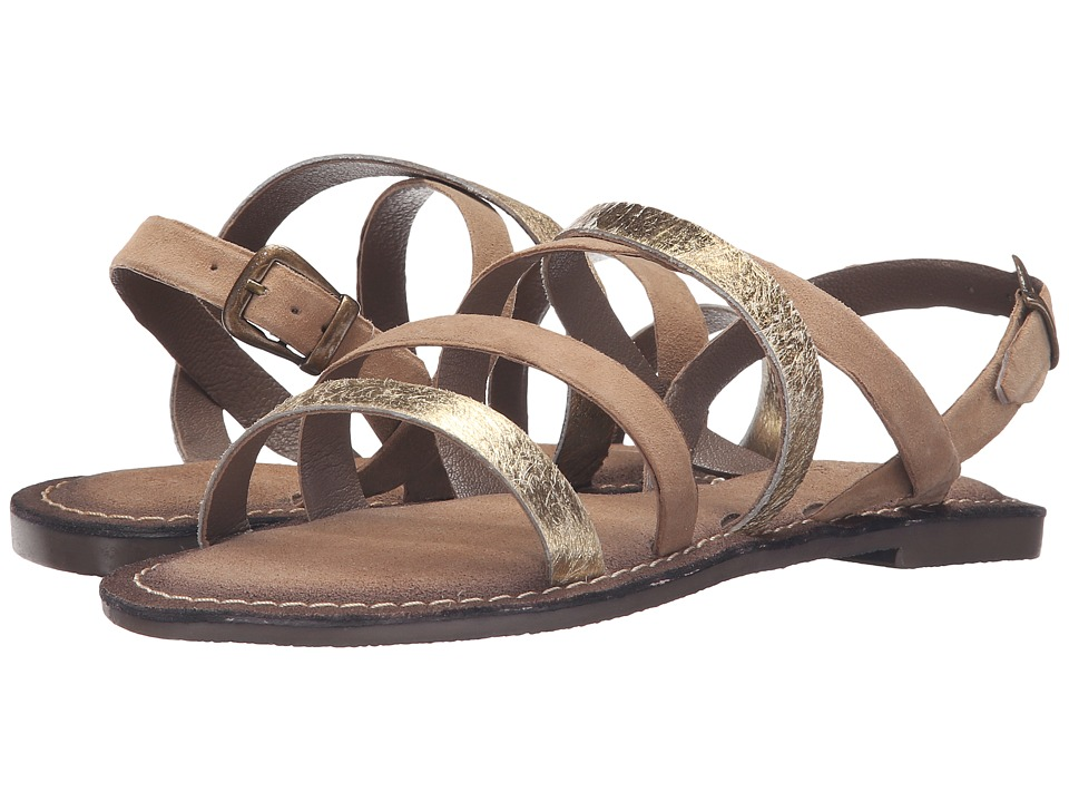 Seychelles - Onward (Taupe/Gold) Women's Sandals