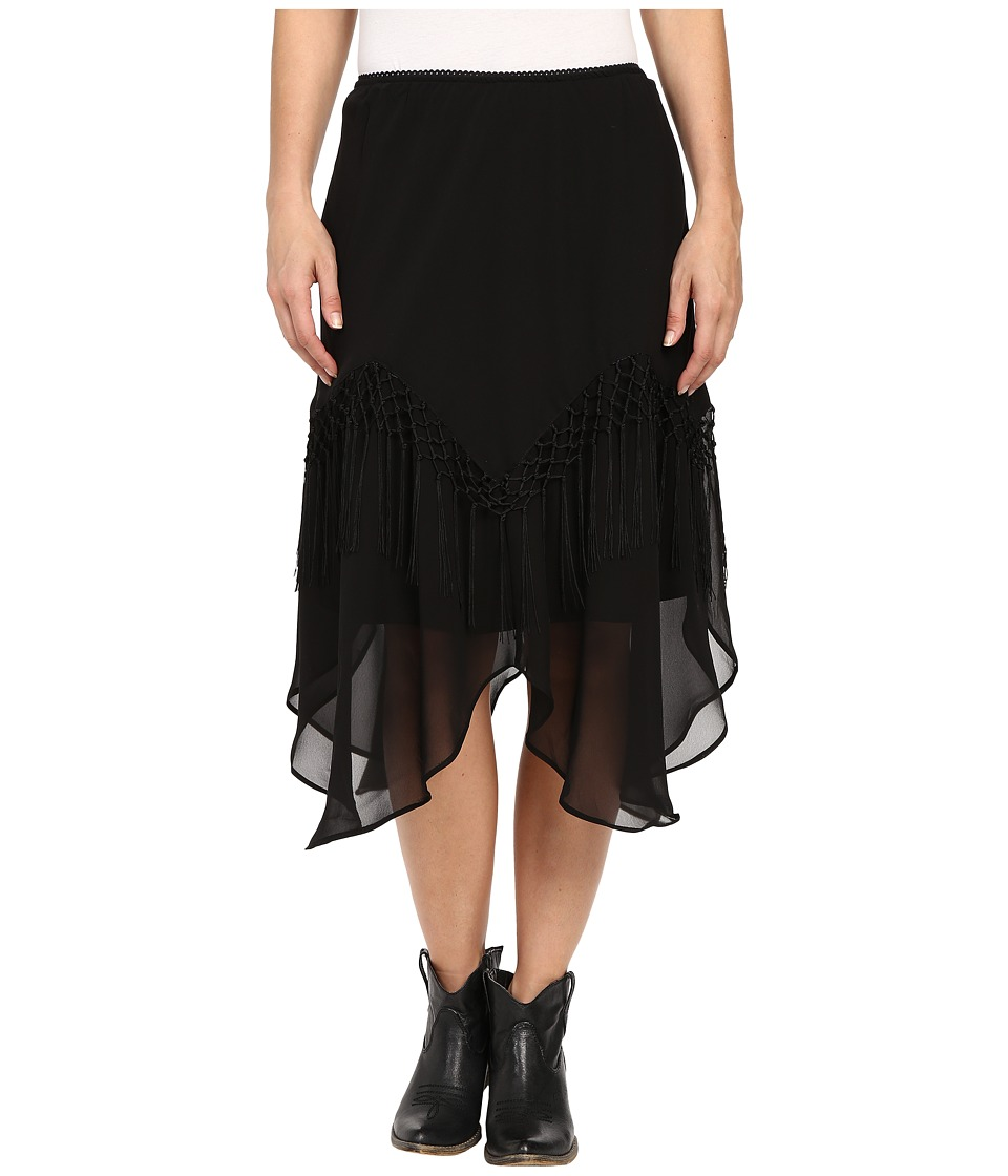 Scully - Gia Flirty Skirt (Black) Women's Skirt