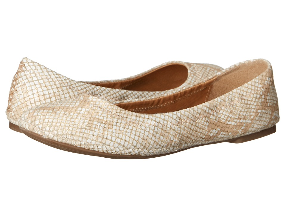 Lucky Brand - Emmie (White Gold Metallic) Women's Flat Shoes