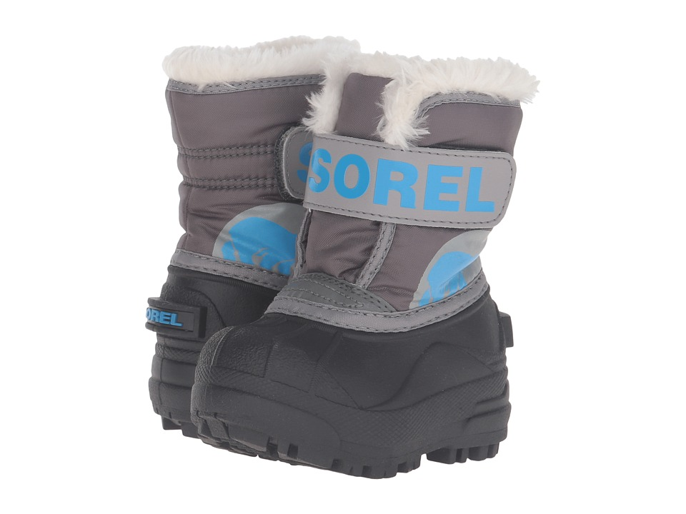SOREL Kids - Snow Commander (Toddler) (Dark Fog/Light Grey) Boys Shoes