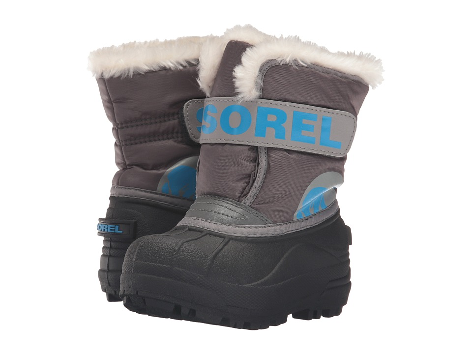 SOREL Kids - Snow Commander (Toddler/Little Kid) (Dark Fog/Light Grey) Boys Shoes
