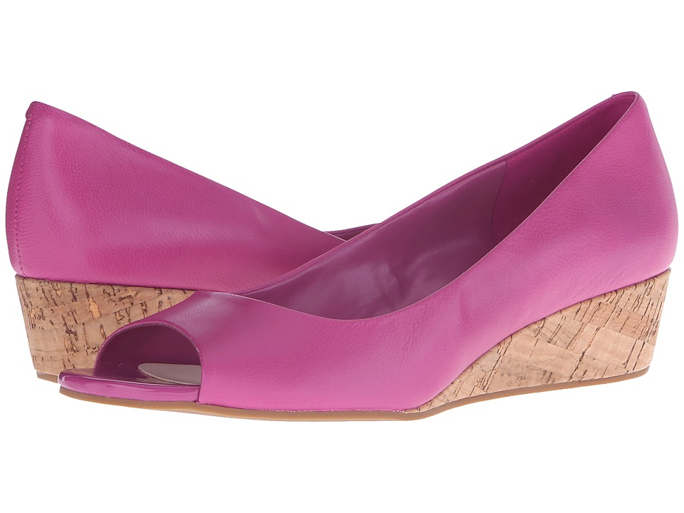 Cole Haan - Elsie Open Toe Wedge II (Fuchsia/Cork) Women's Wedge Shoes