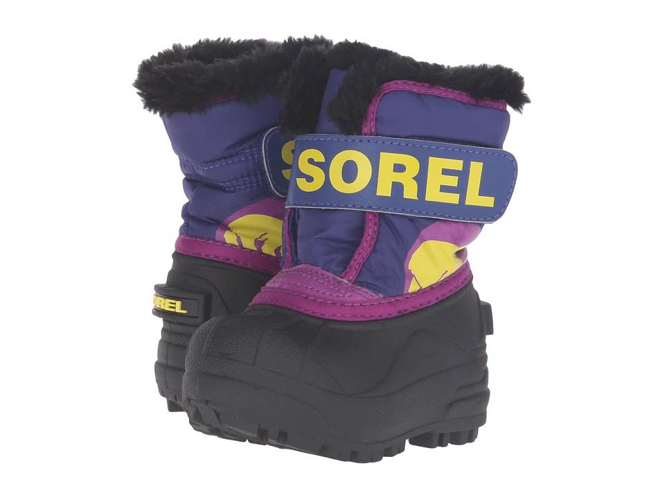 SOREL Kids Snow Commander (Toddler) (Grape Juice/Bright Plum) Girls Shoes