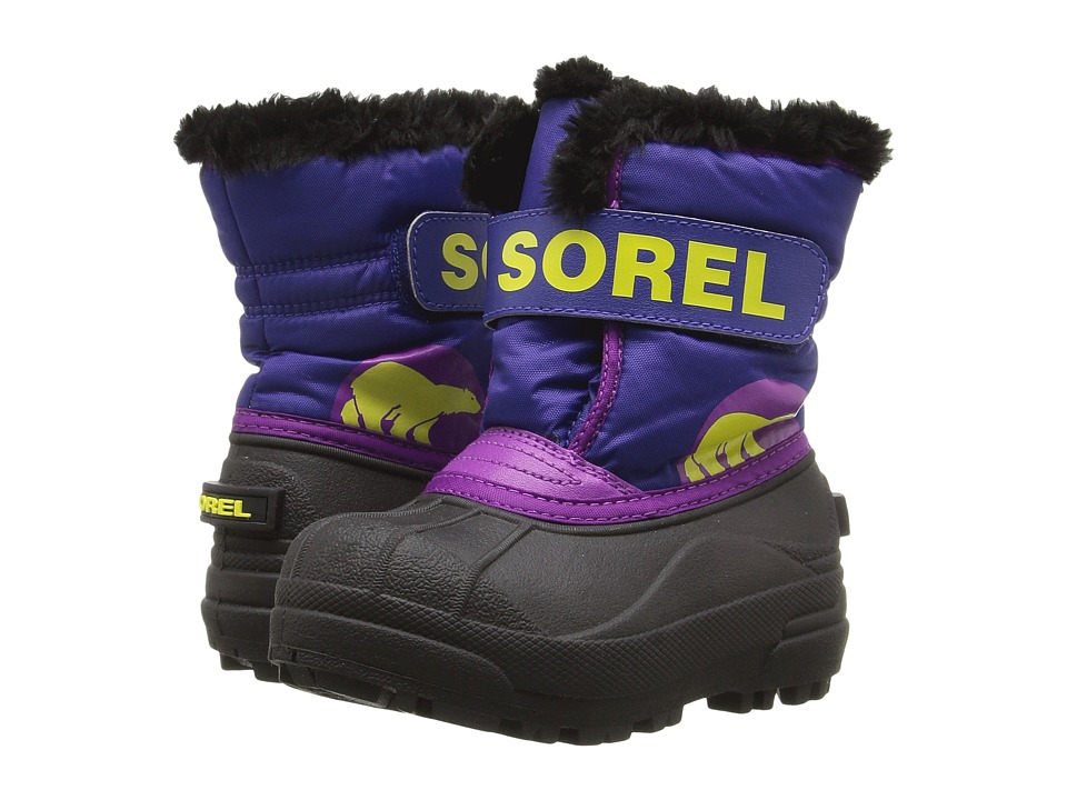 SOREL Kids Snow Commander (Toddler/Little Kid) (Grape Juice/Bright Plum) Girls Shoes