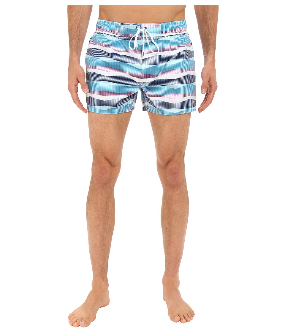 2(X)IST - Retro Stripe Ibiza (Methyl Blue) Men's Swimwear