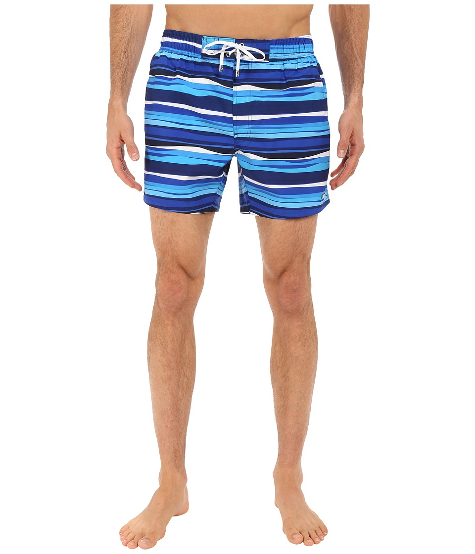 2(X)IST - Awning Stripe Hampton (Estate Blue) Men's Swimwear