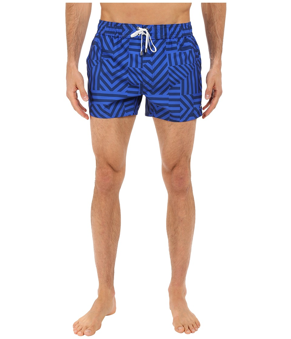 2(X)IST - Block Stripe Ibiza (Estate Blue) Men's Swimwear