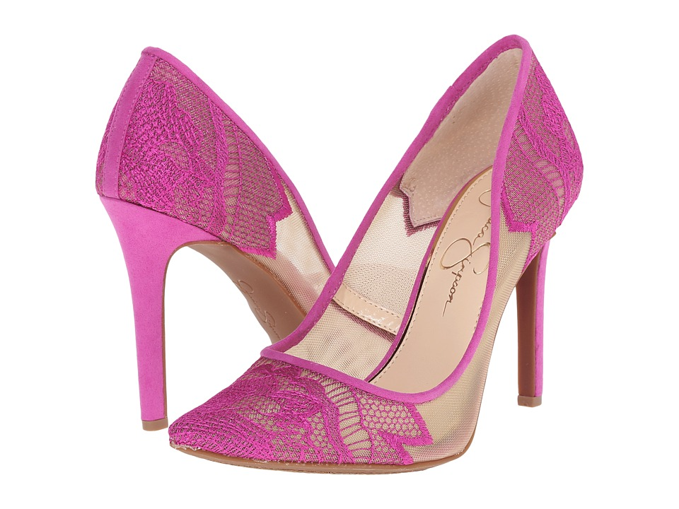 Jessica Simpson Camba Sheer Vivid Orchid High Heels