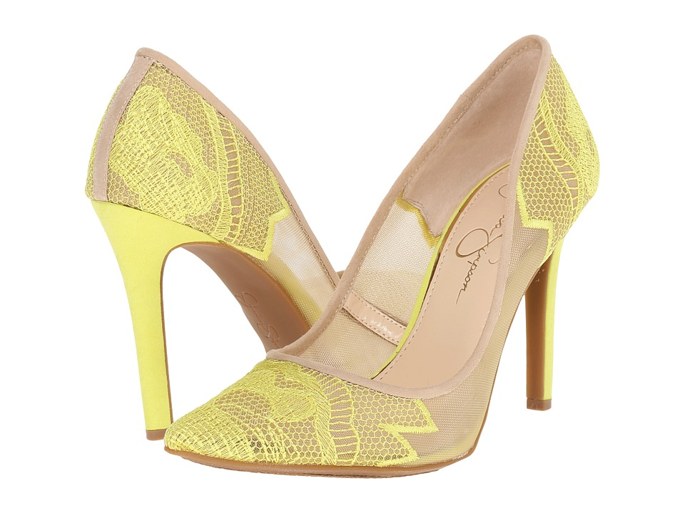 Jessica Simpson Camba (Sheer Electric Yellow Cream) High Heels