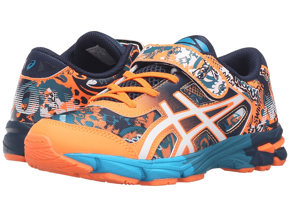 ASICS Kids Gel-Noosa Tri 11 PS (Toddler/Little Kid) (Hot Orange/White/Dark Navy) Boys Shoes